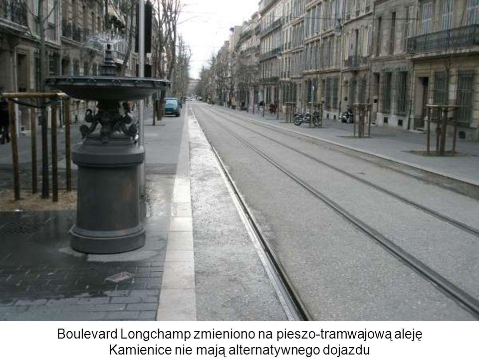 Boulevard Longchamp zmieniono na pieszo-tramwajową aleję