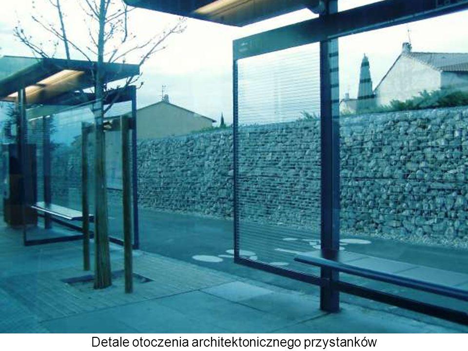 Detale otoczenia architektonicznego przystanków