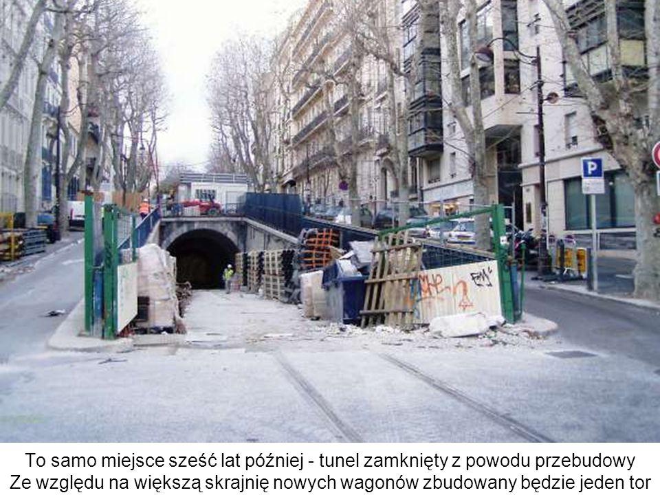 To samo miejsce sześć lat później - tunel zamknięty z powodu przebudowy