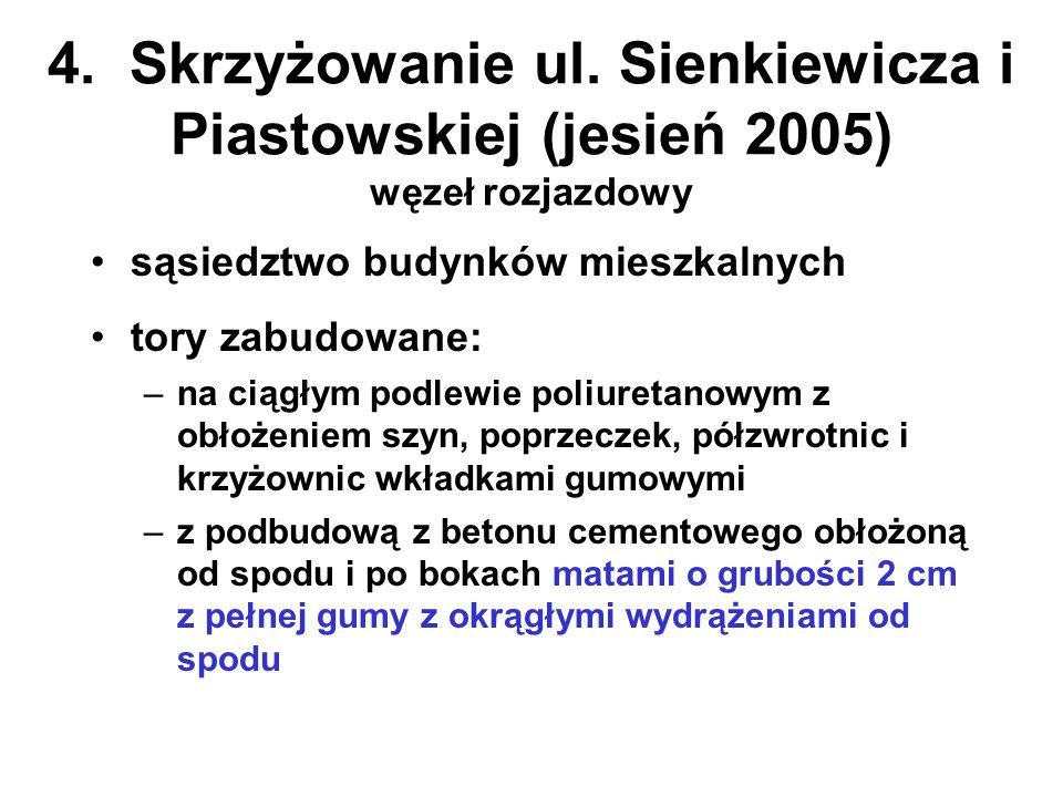 4. Skrzyżowanie ul. Sienkiewicza i Piastowskiej (jesień 2005) węzeł rozjazdowy