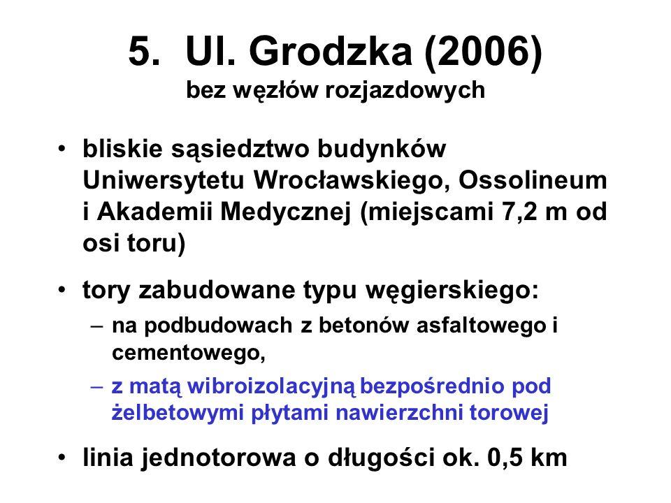 5. Ul. Grodzka (2006) bez węzłów rozjazdowych