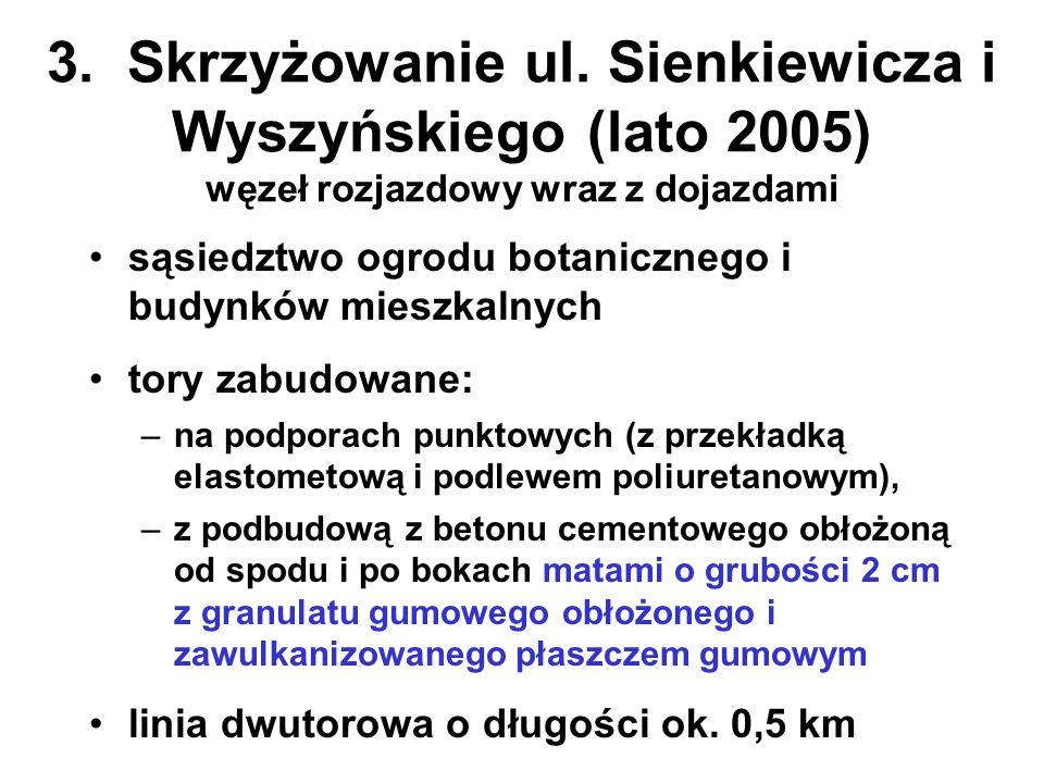 3. Skrzyżowanie ul. Sienkiewicza i Wyszyńskiego (lato 2005) węzeł rozjazdowy wraz z dojazdami