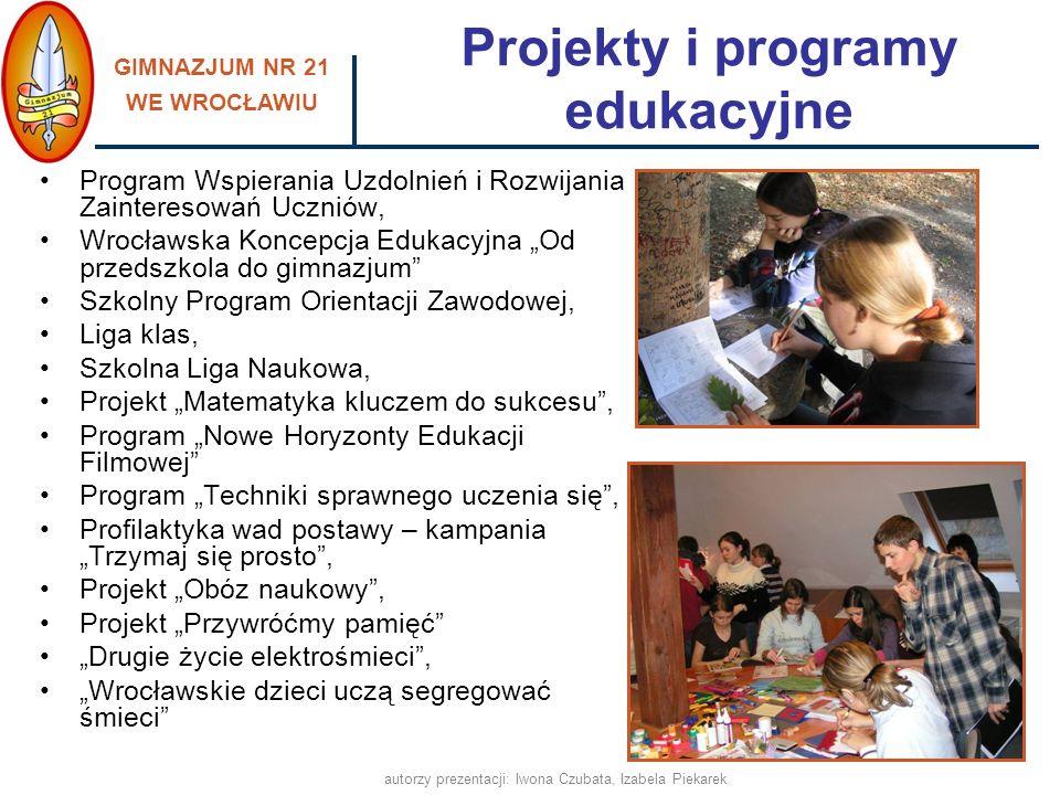 Projekty i programy edukacyjne