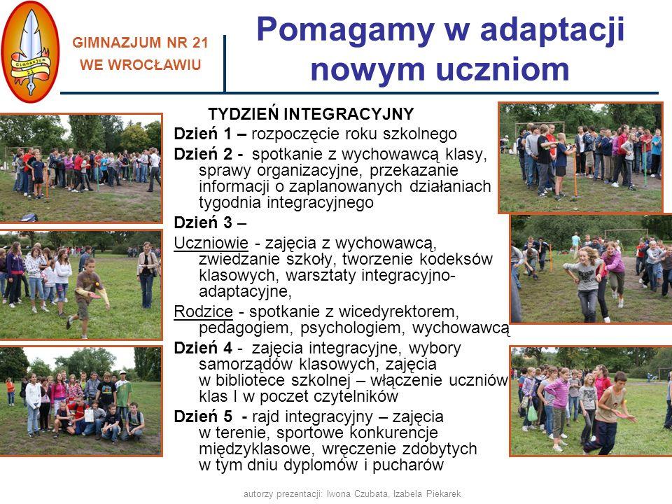 Pomagamy w adaptacji nowym uczniom