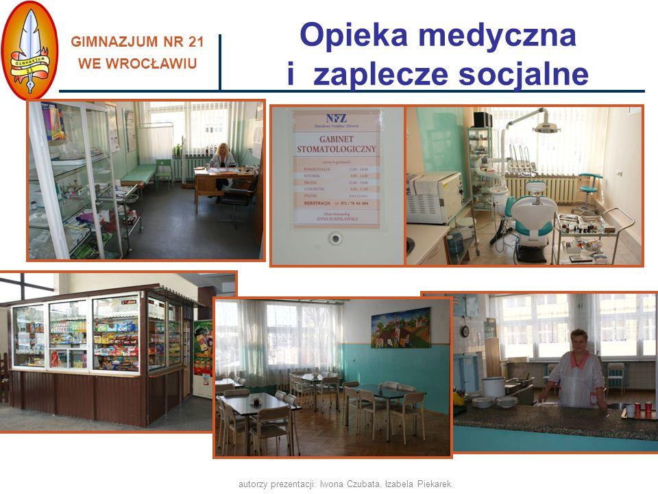 Opieka medyczna i zaplecze socjalne