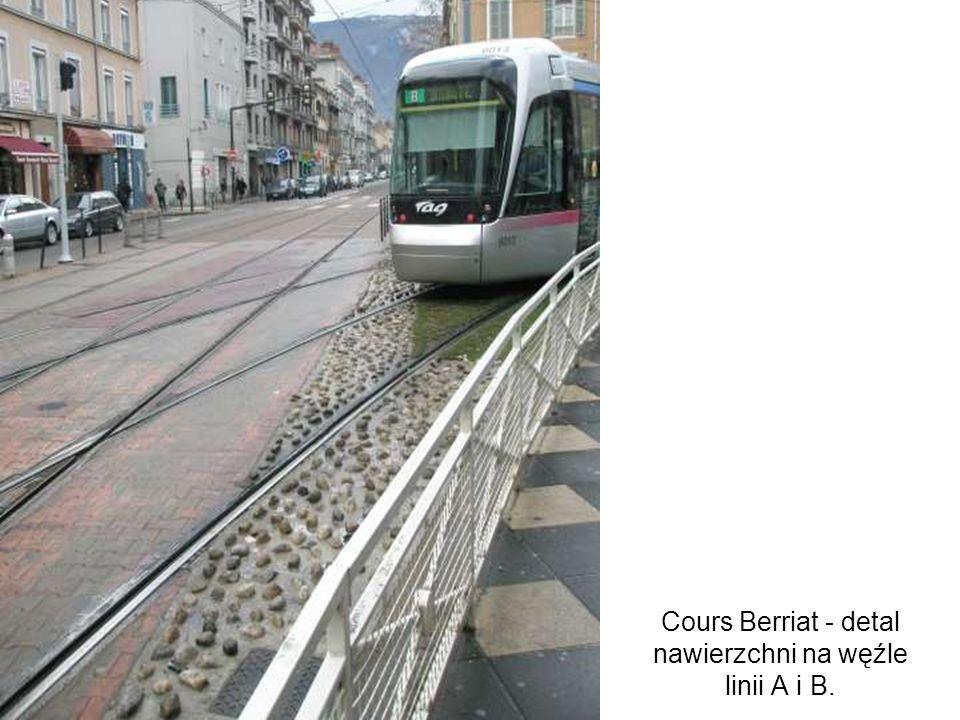 Cours Berriat - detal nawierzchni na węźle linii A i B.