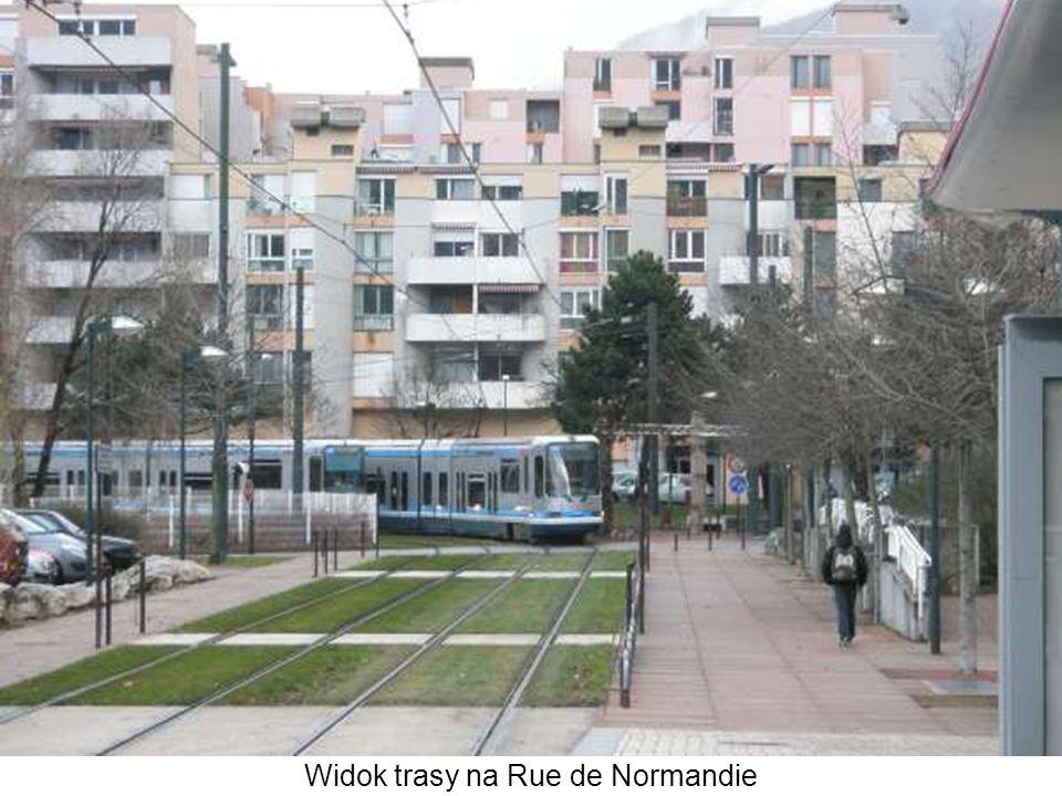 Widok trasy na Rue de Normandie