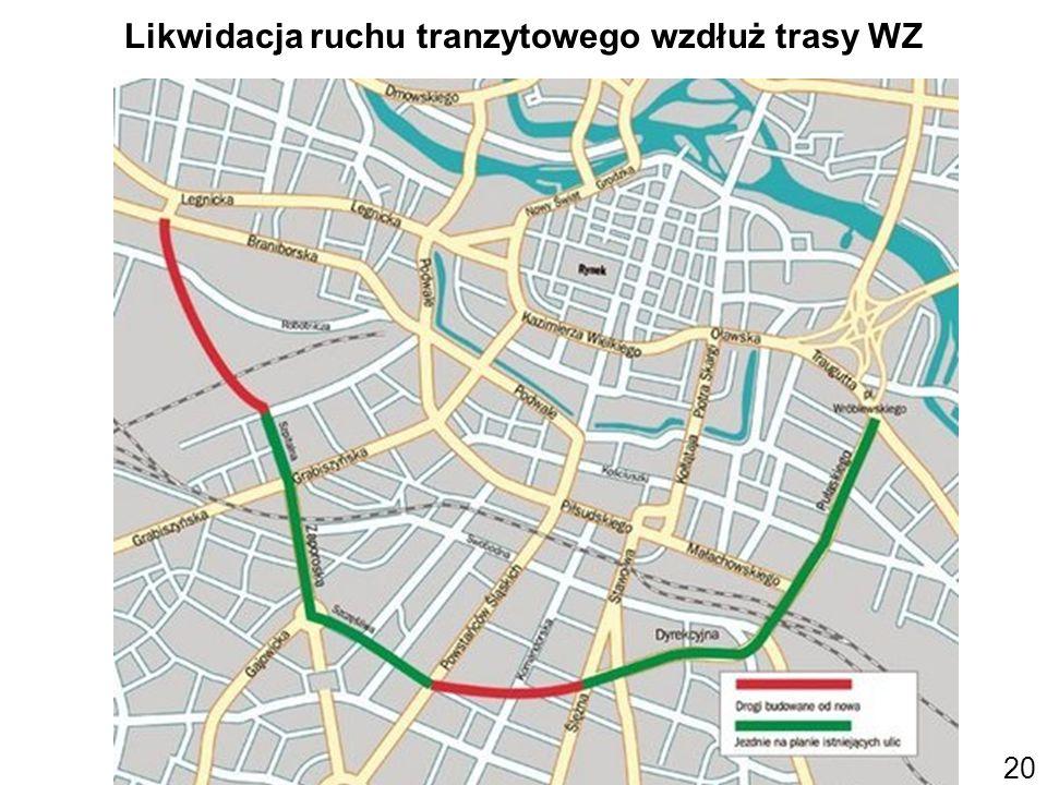 Likwidacja ruchu tranzytowego wzdłuż trasy WZ