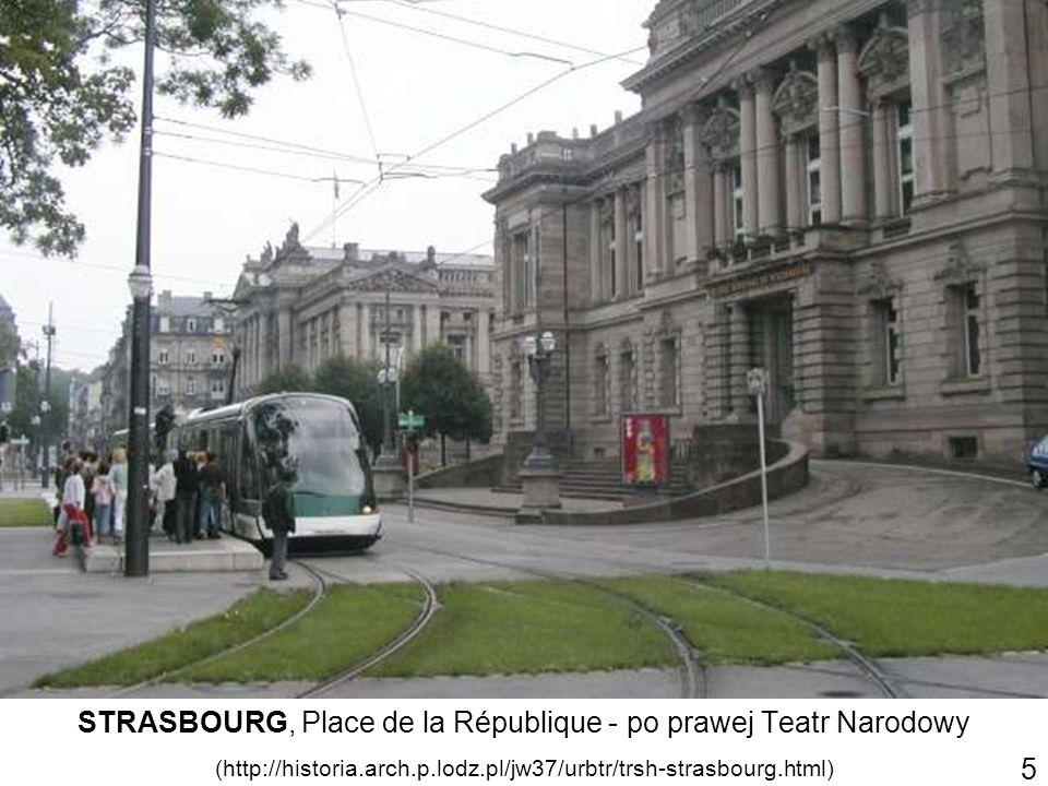 STRASBOURG, Place de la République - po prawej Teatr Narodowy