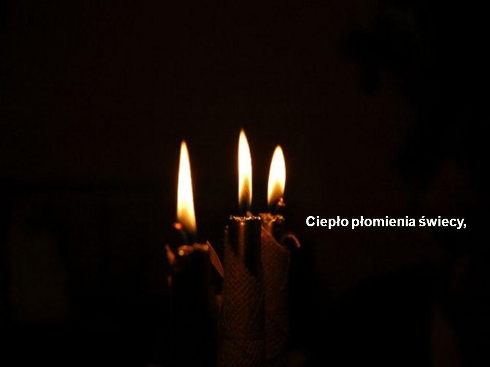 Ciepło płomienia świecy,
