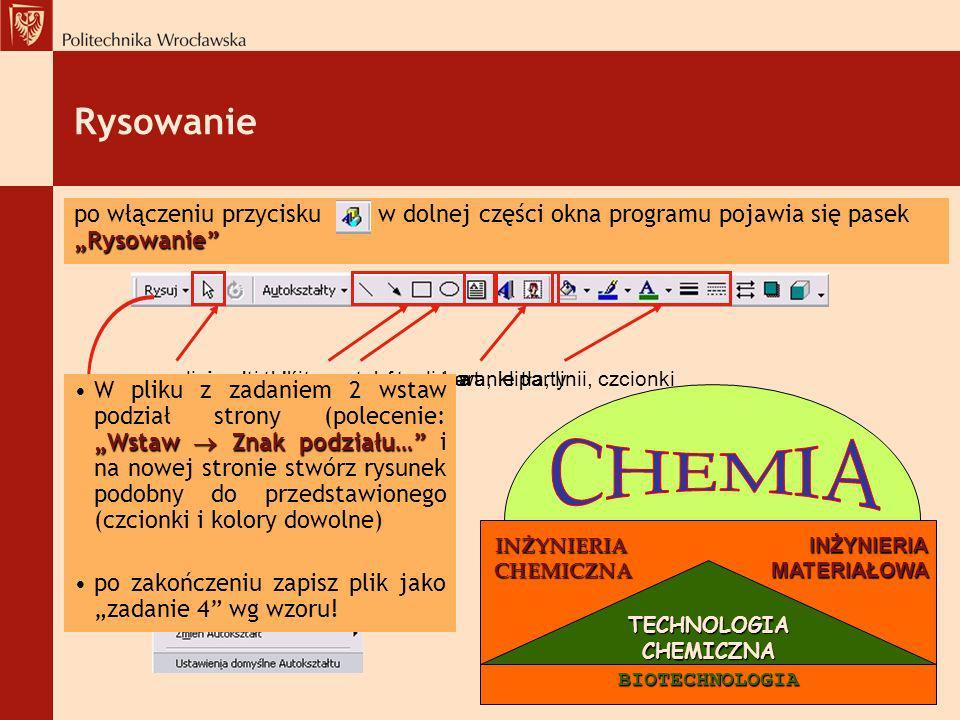 INŻYNIERIA INŻYNIERIA CHEMICZNA MATERIAŁOWA