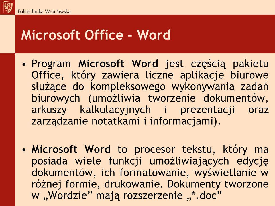 Microsoft Office - Word