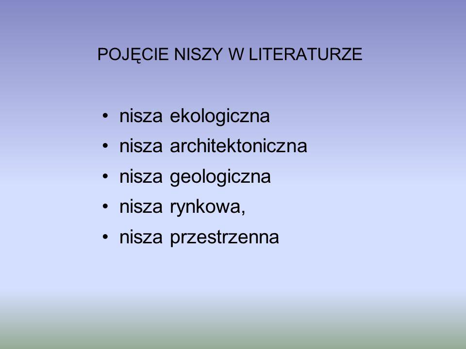 POJĘCIE NISZY W LITERATURZE