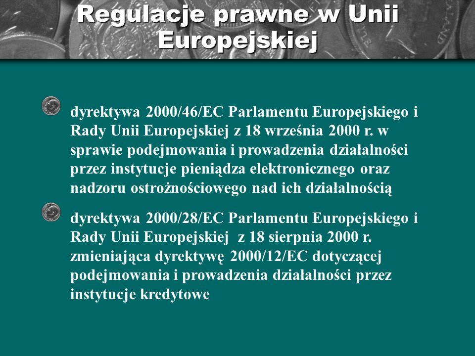 Regulacje prawne w Unii Europejskiej