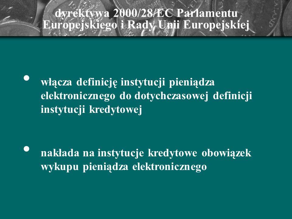 dyrektywa 2000/28/EC Parlamentu Europejskiego i Rady Unii Europejskiej