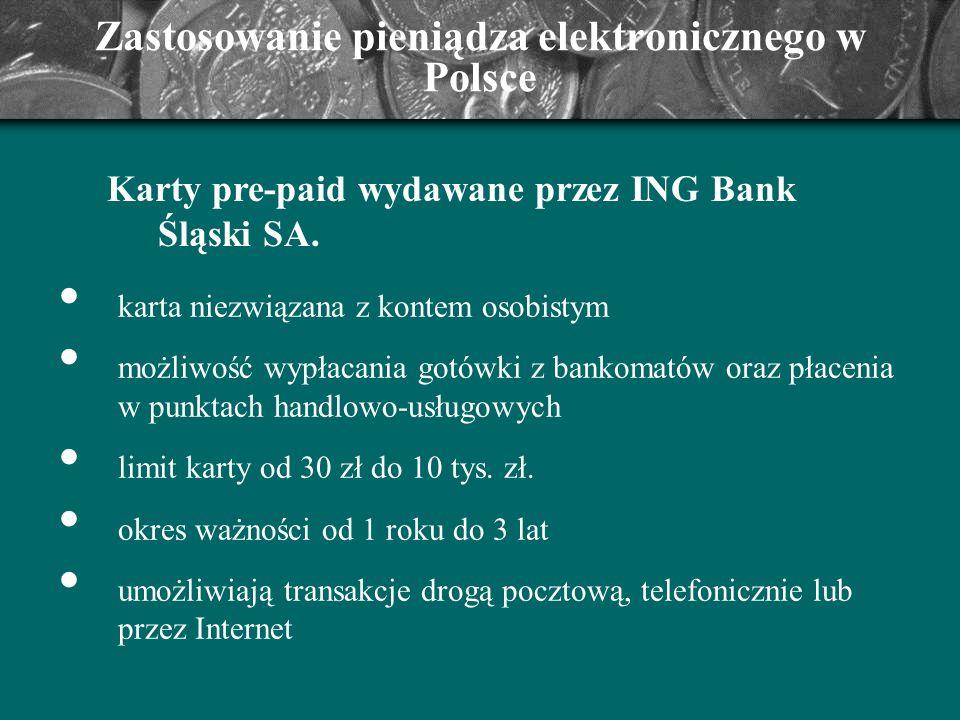 Zastosowanie pieniądza elektronicznego w Polsce