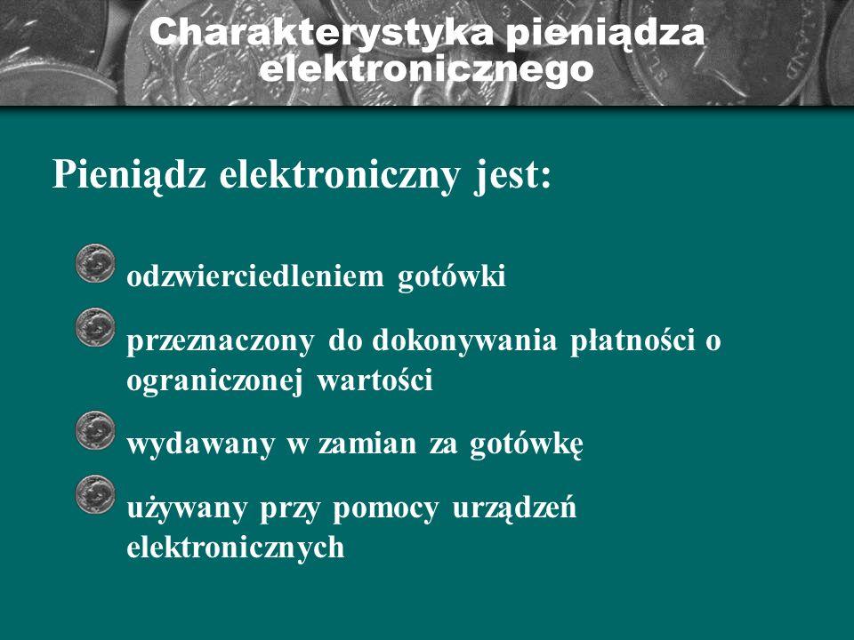 Charakterystyka pieniądza elektronicznego