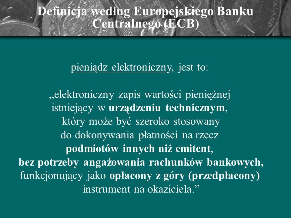 Definicja według Europejskiego Banku Centralnego (ECB)