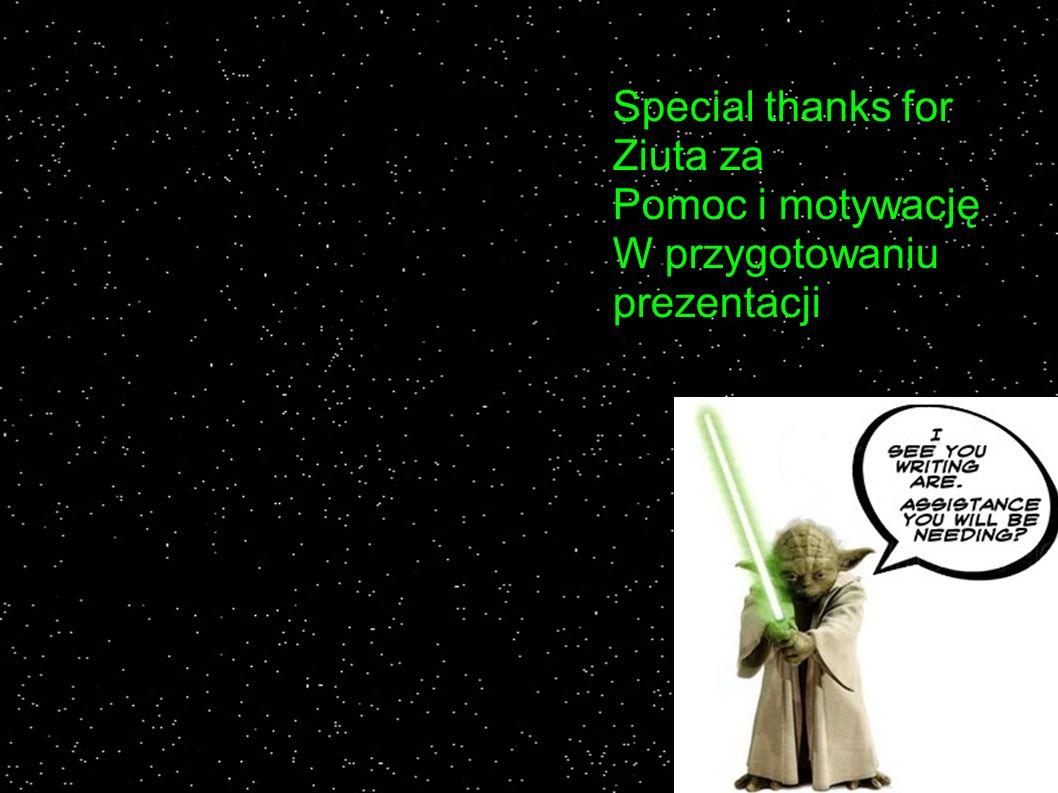 Special thanks for Ziuta za Pomoc i motywację