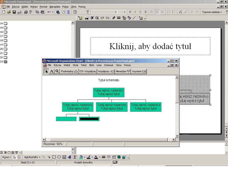 Tworzenie schematu organizacyjnego