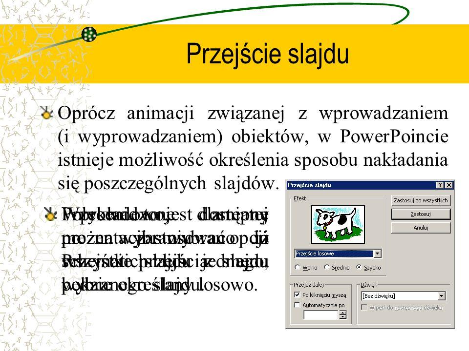 Przejście slajdu