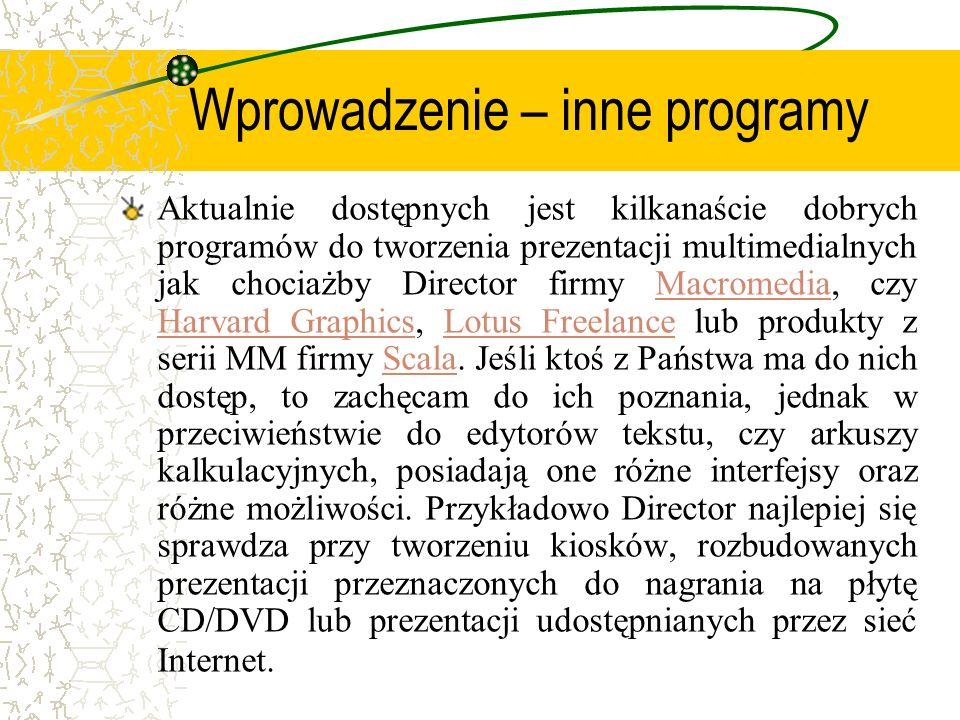 Wprowadzenie – inne programy