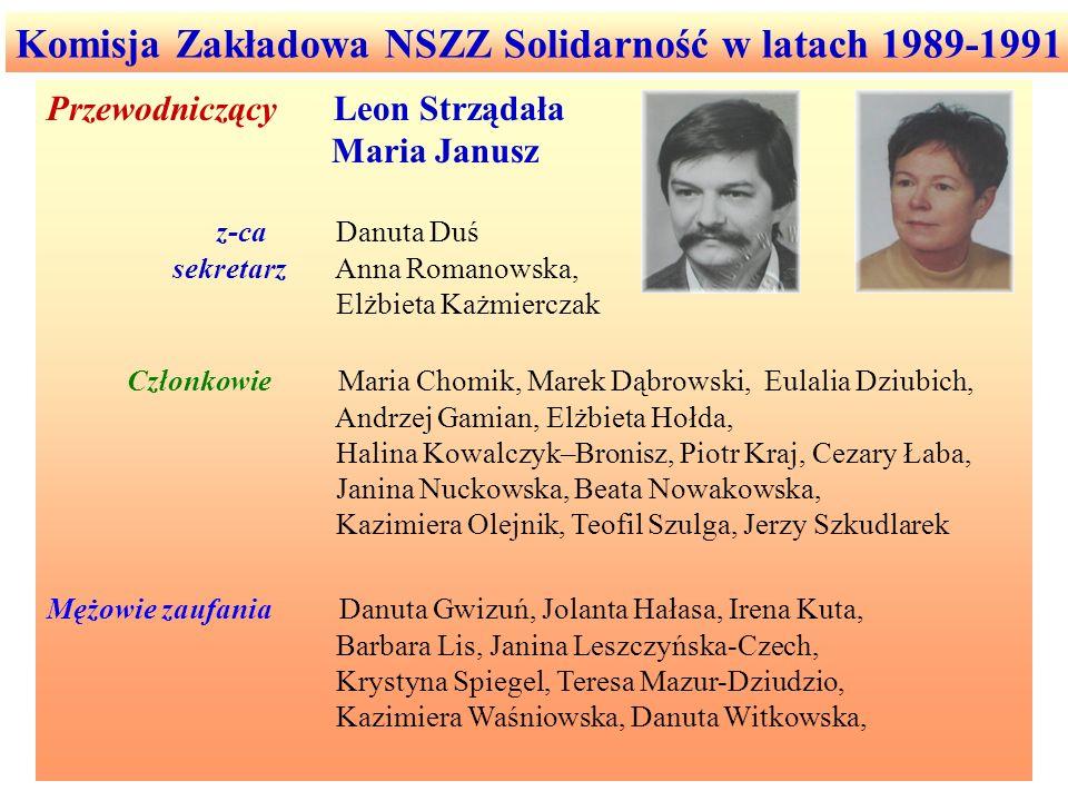 Komisja Zakładowa NSZZ Solidarność w latach 1989-1991