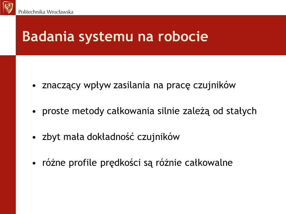 Badania systemu na robocie