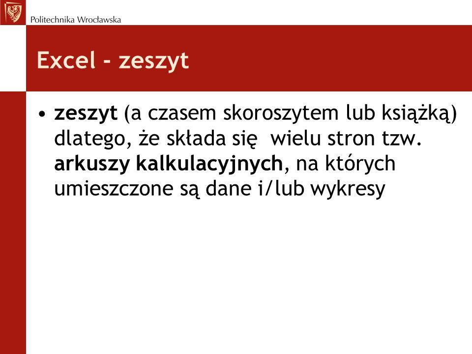 Excel - zeszyt