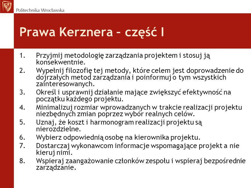 Prawa Kerznera – część I