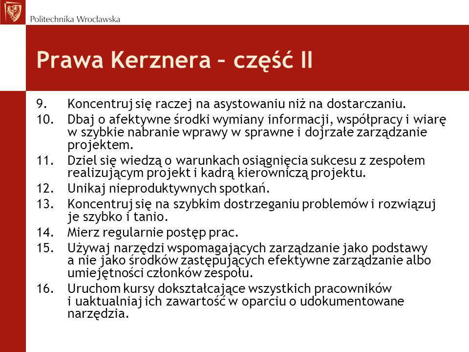 Prawa Kerznera – część II