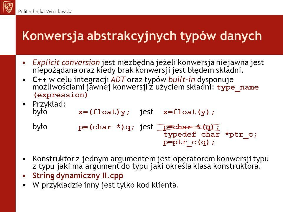 Konwersja abstrakcyjnych typów danych