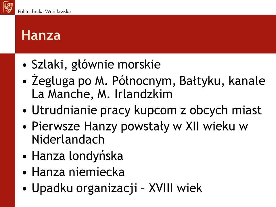 Hanza Szlaki, głównie morskie