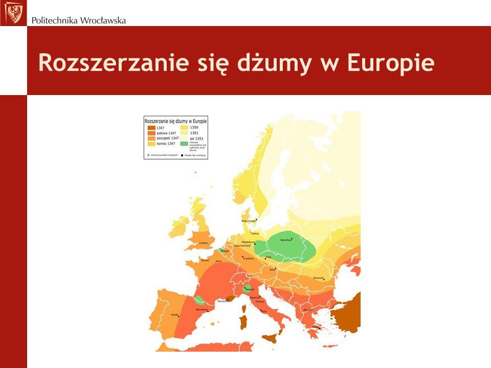 Rozszerzanie się dżumy w Europie