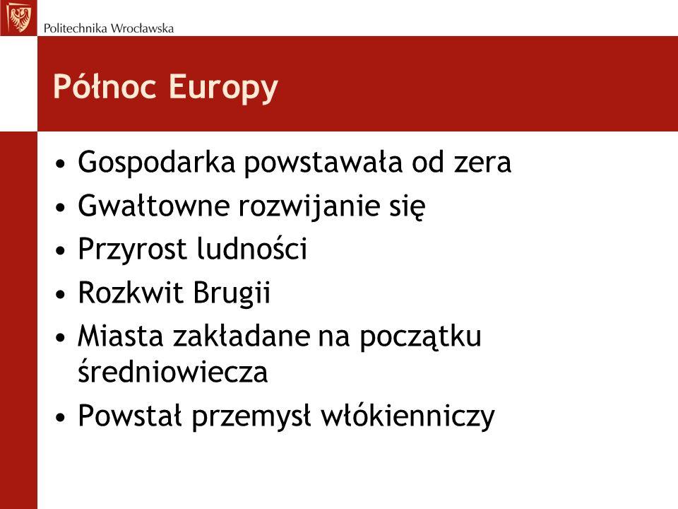 Północ Europy Gospodarka powstawała od zera Gwałtowne rozwijanie się