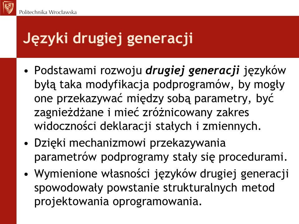 Języki drugiej generacji