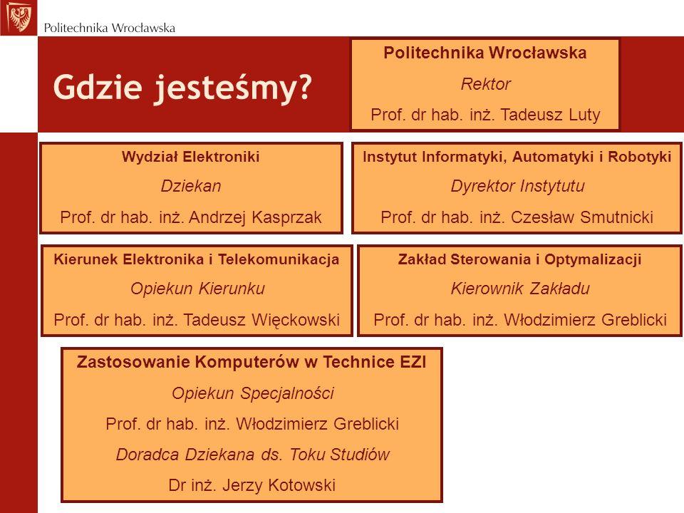 Gdzie jesteśmy Politechnika Wrocławska Rektor
