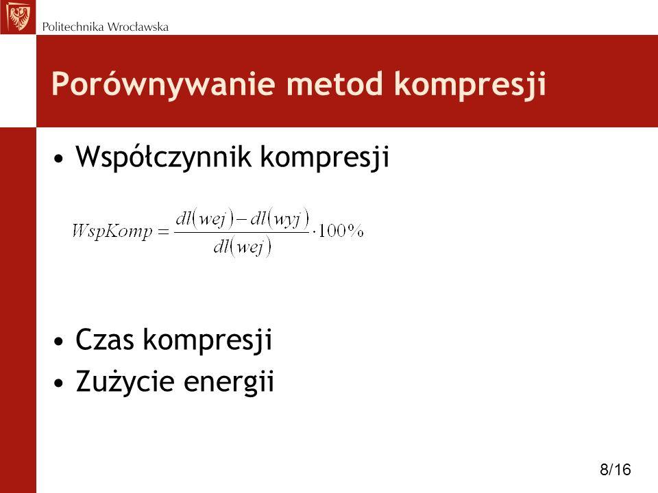 Porównywanie metod kompresji