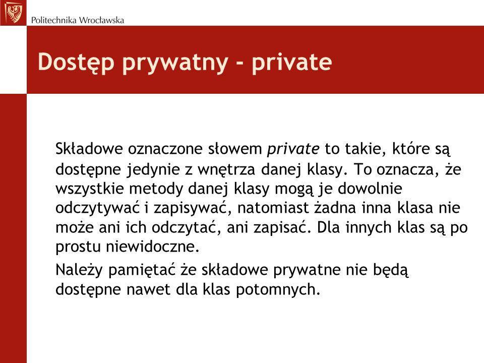 Dostęp prywatny - private