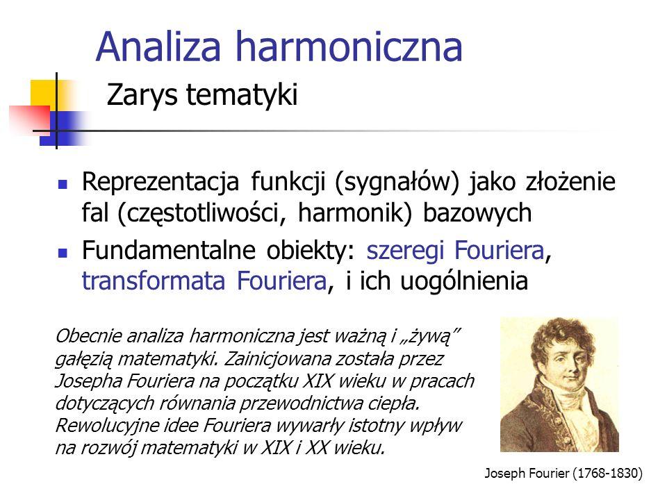 Analiza harmoniczna Zarys tematyki