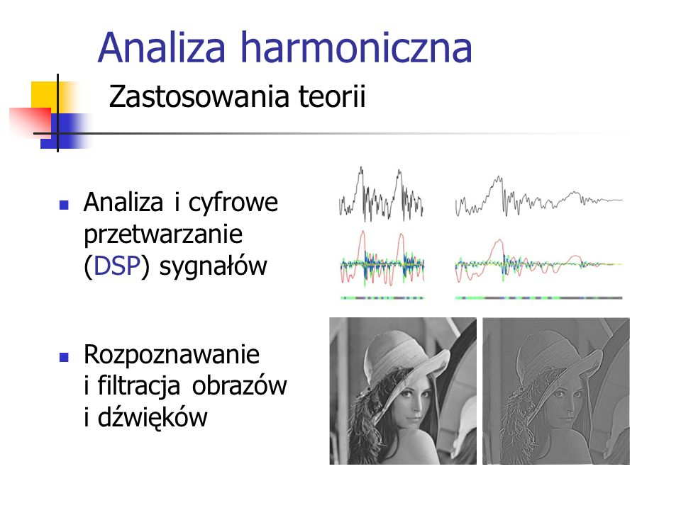 Analiza harmoniczna Zastosowania teorii