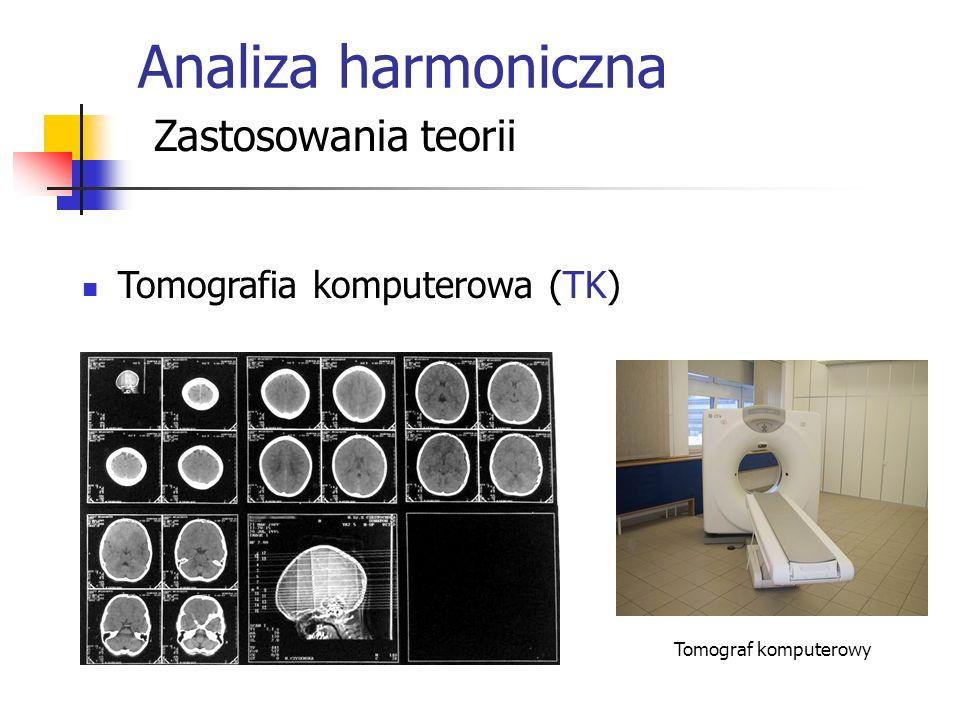 Analiza harmoniczna Zastosowania teorii Tomografia komputerowa (TK)