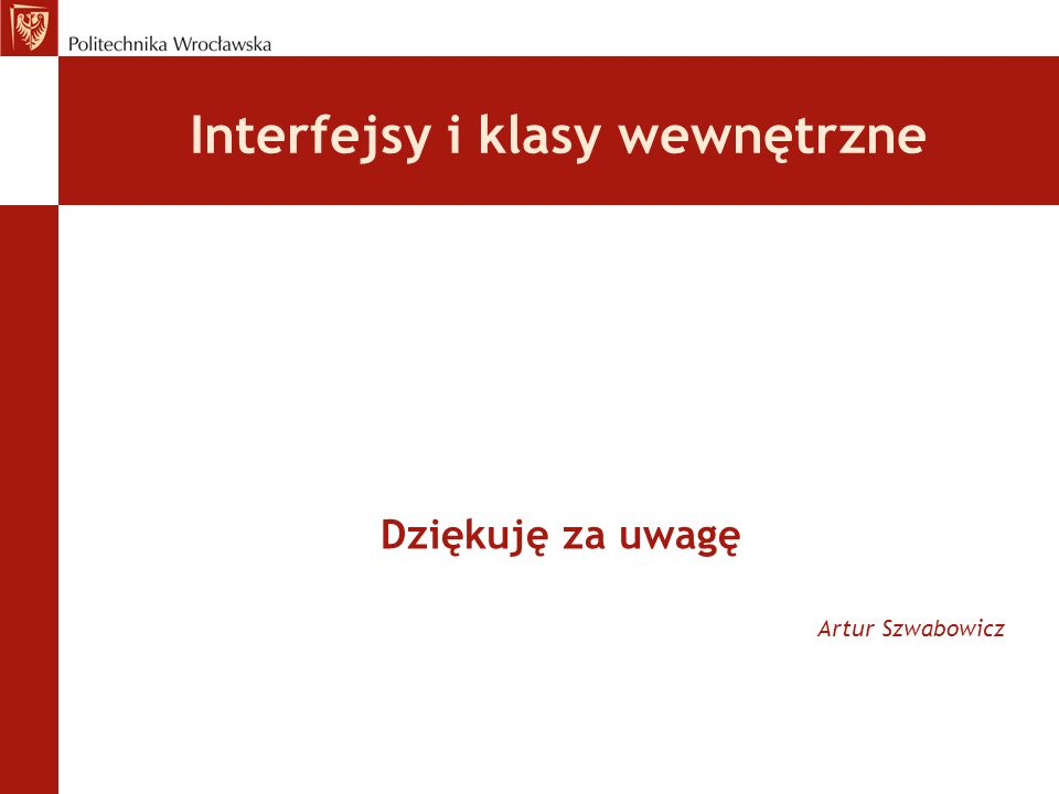 Interfejsy i klasy wewnętrzne