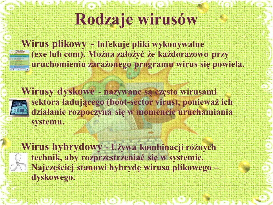 Rodzaje wirusów