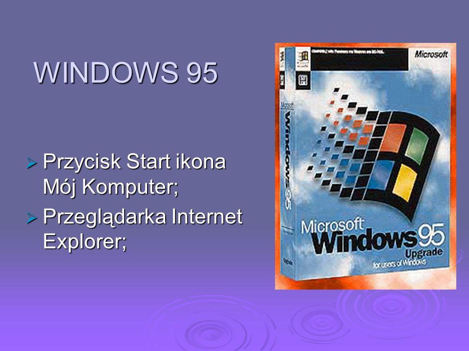 WINDOWS 95 Przycisk Start ikona Mój Komputer;