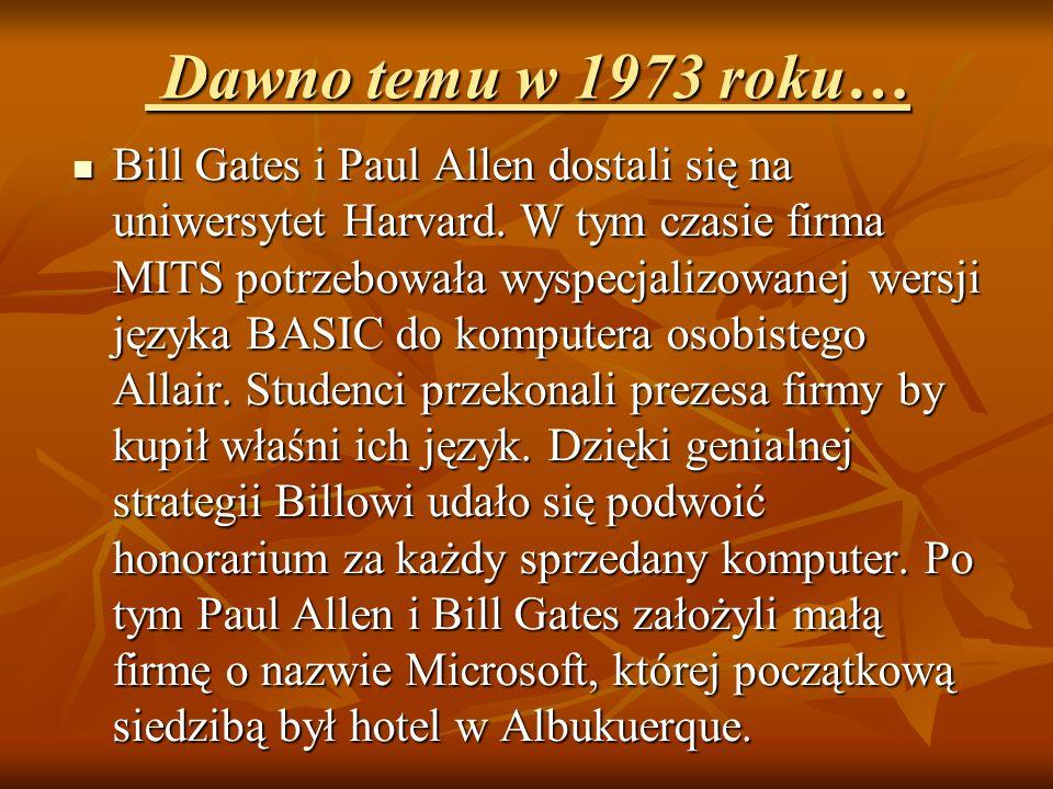 Dawno temu w 1973 roku…