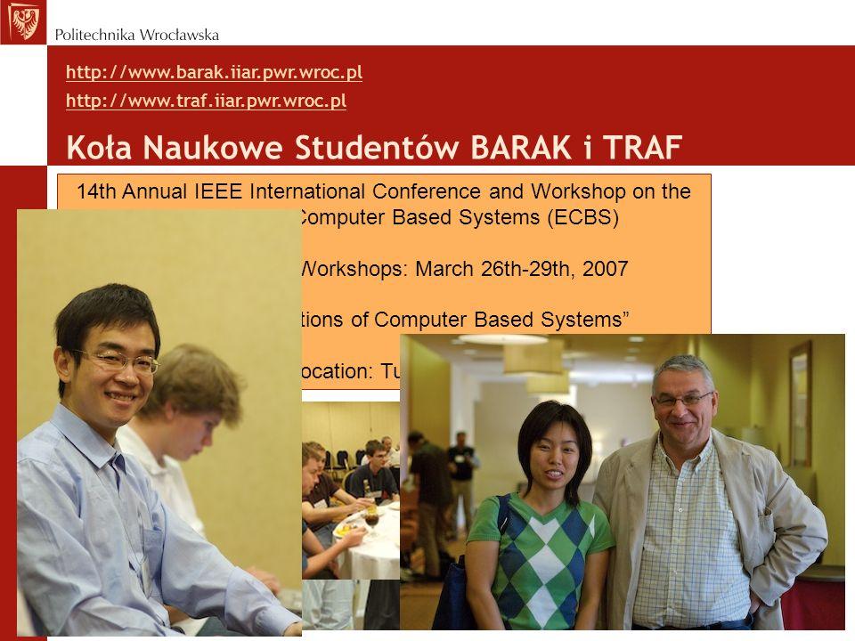 Koła Naukowe Studentów BARAK i TRAF