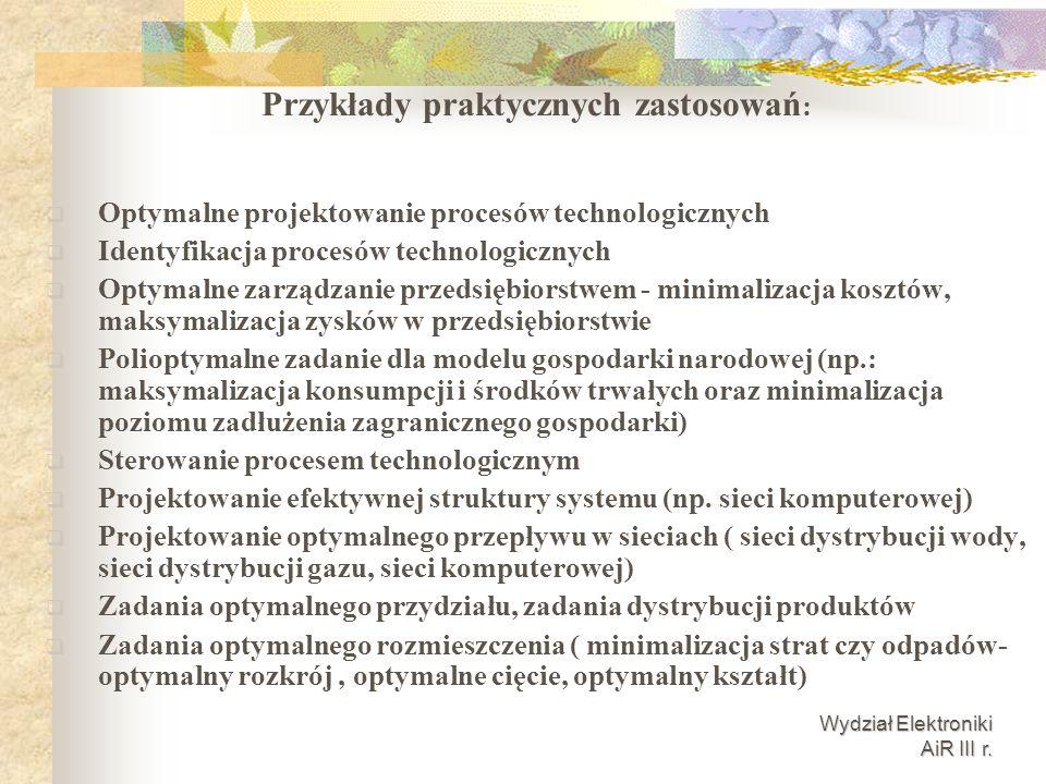 Przykłady praktycznych zastosowań:
