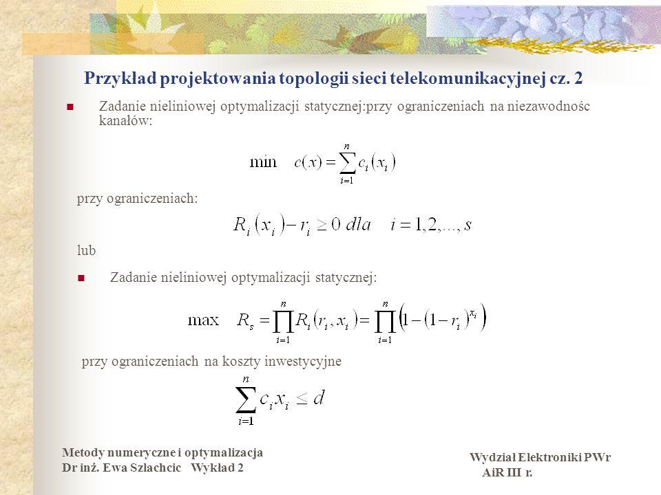Przykład projektowania topologii sieci telekomunikacyjnej cz. 2