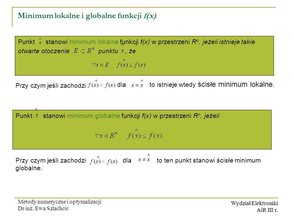 Minimum lokalne i globalne funkcji f(x)